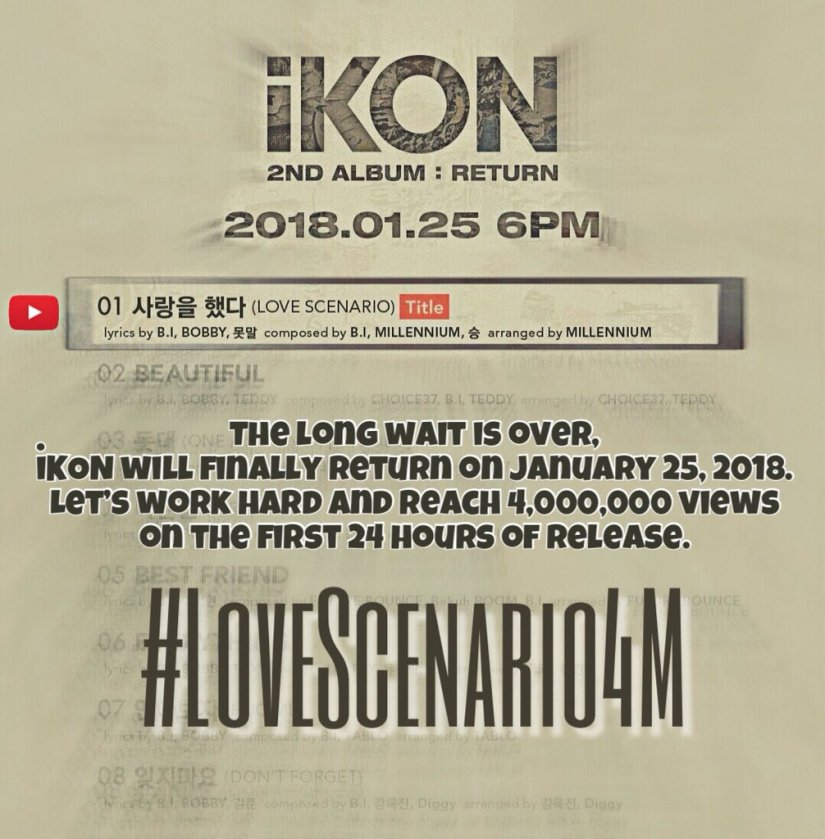 Get Ready – first goal for iKON's come back is 4 million MV views