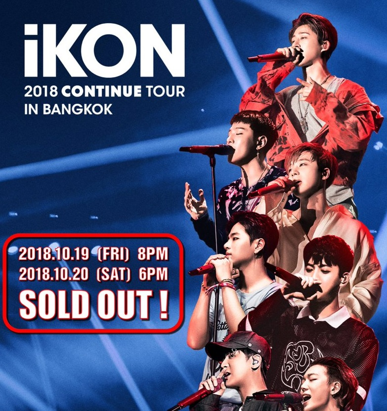 iKON sells out both Bangkok concerts