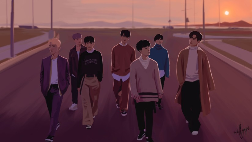 iKON fan art – or in this case just ART